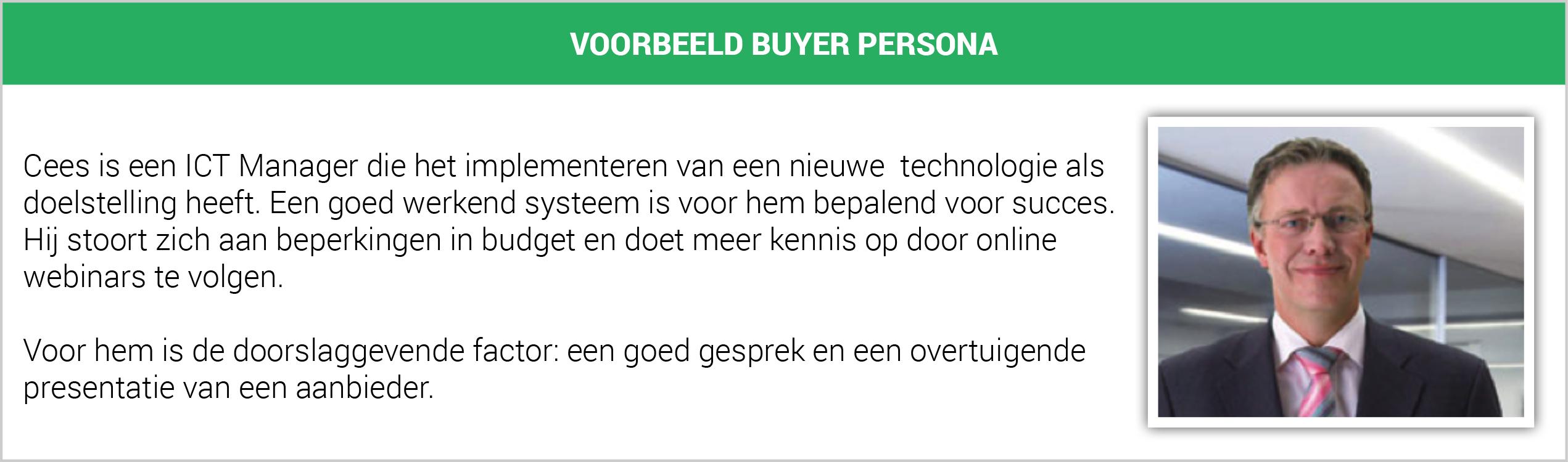 Voorbeeld buyer persona