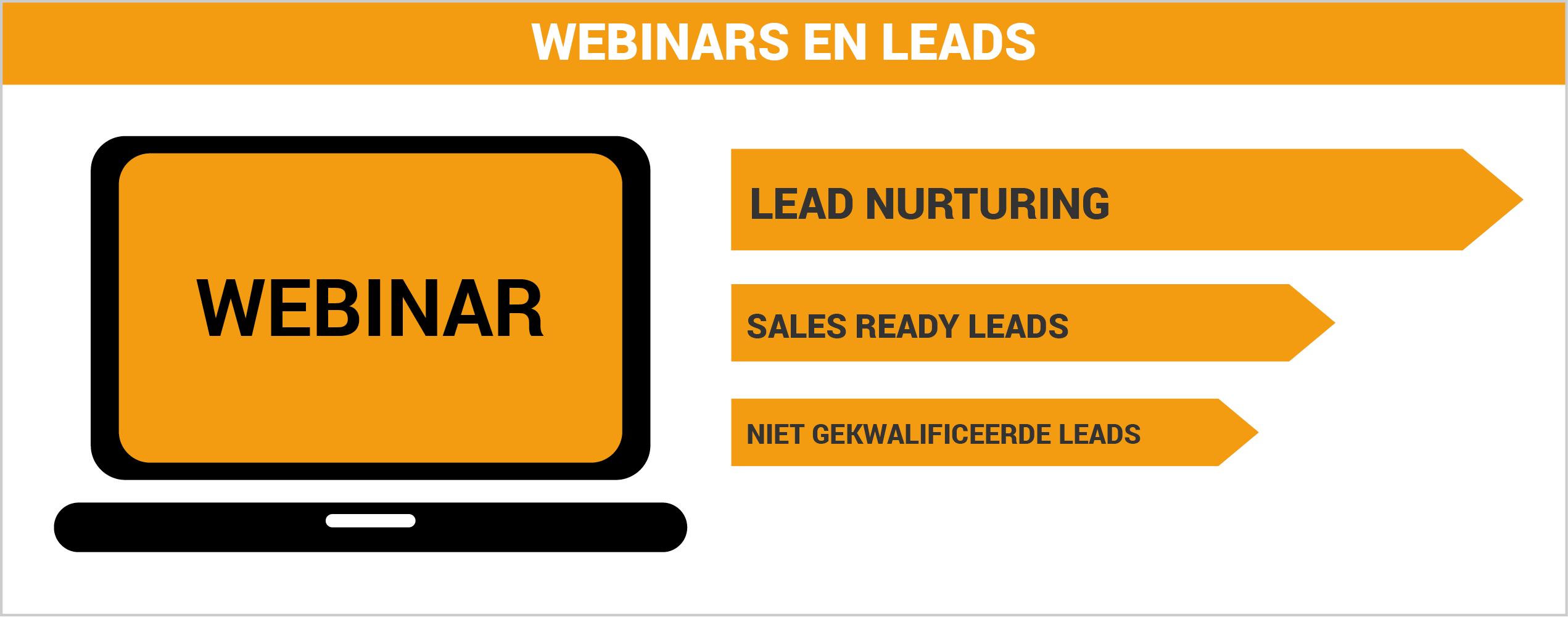 Webinars en leads