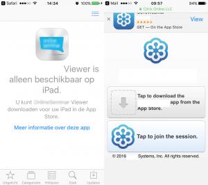 App download popup plaatje